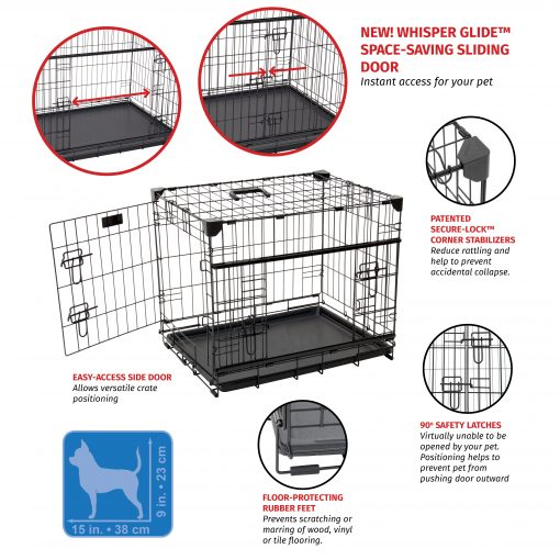 XS dog crate infographic